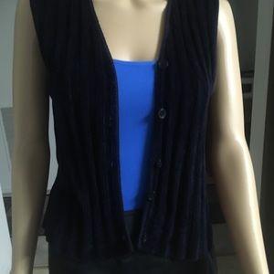 Jackets & Blazers - Navy Blue Vest Soft